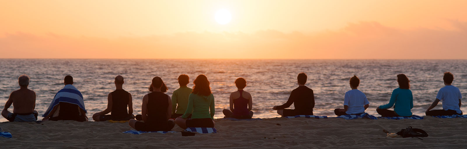 Mexico Yoga Retreats: Beach Meditation at Sunset