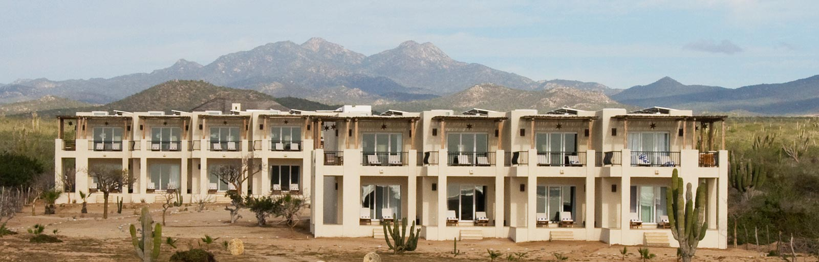 Mexico Yoga Retreat Center: Guest Rooms with Mountain Backdrop