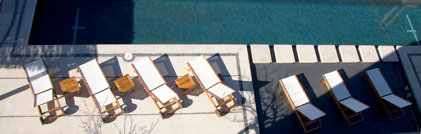 Yoga & Wellness Retreats in Mexico: Chaise Lounges at the Swimming Pool
