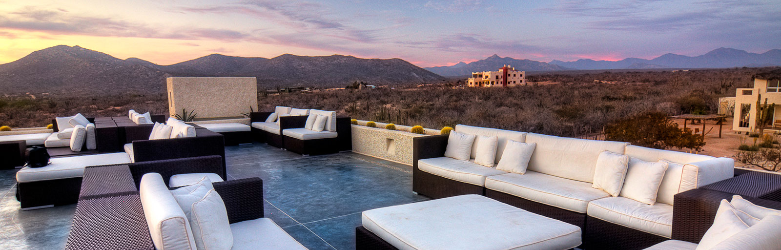 Mexico Yoga Retreat Center in Baja: Roof Deck Lounge